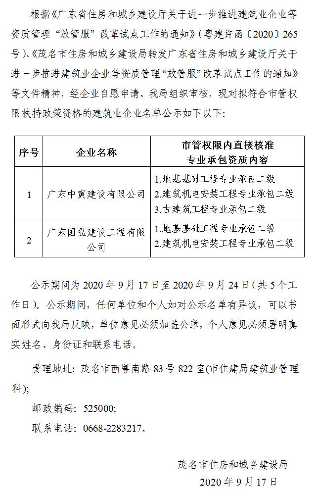 关于广东中寅建设有限公司等2家建筑业企业拟享受扶持政策资格情况的公示.jpg